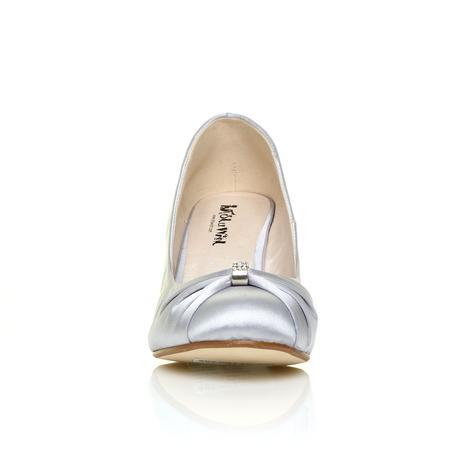 Stříbrné společenské boty, klínek, 36-41, 41