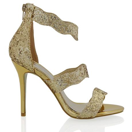 Stříbrné společenské, plesové sandálky 36-41, 37