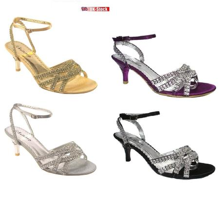 Stříbrné společenské, plesové sandálky 36-41, 38