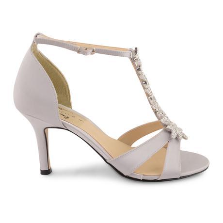 Stříbrné společenské, plesové sandálky 36-41, 40