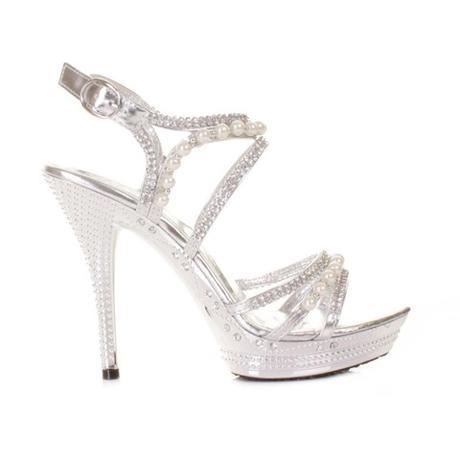 Stříbrné společenské sandálky, 36-41, 38