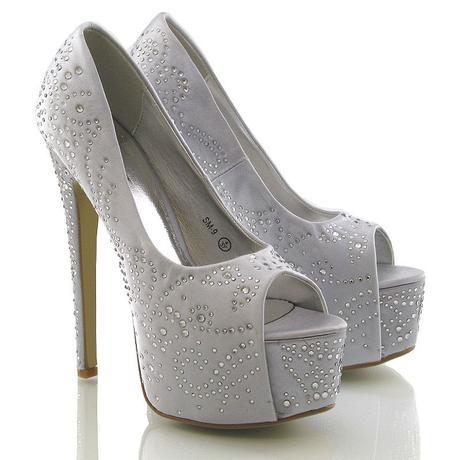 Stříbrné svatební, společenské sandálky 36-41, 36