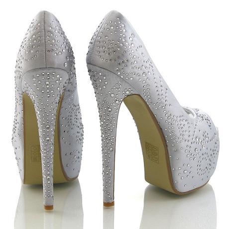 Stříbrné svatební, společenské sandálky 36-41, 37