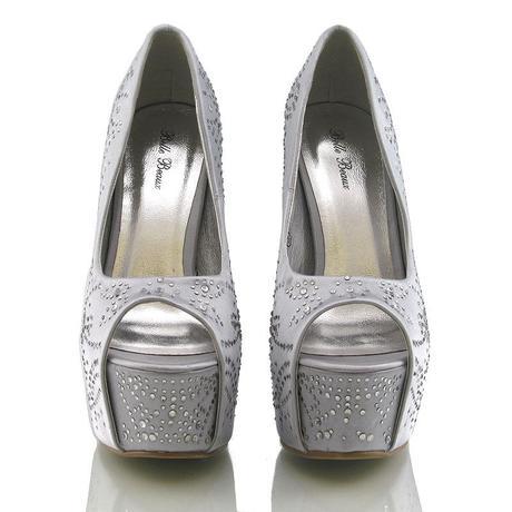 Stříbrné svatební, společenské sandálky 36-41, 38