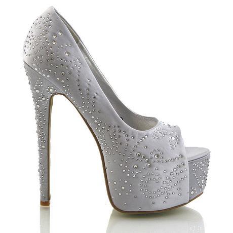 Stříbrné svatební, společenské sandálky 36-41, 40