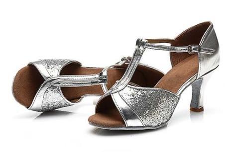 Stříbrné taneční, plesové lodičky, 36-41, 36