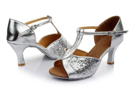 Stříbrné taneční, plesové lodičky, 36-41, 37