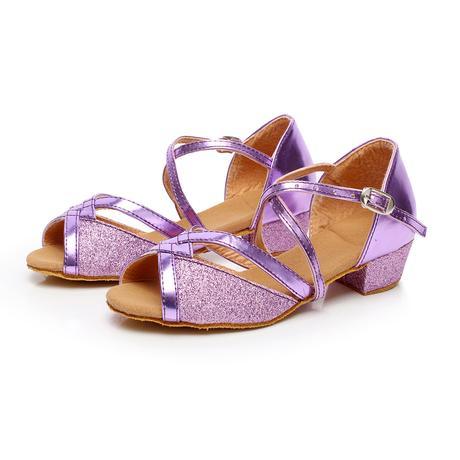 Stříbrné taneční společenské sandálky, 24-38, 30