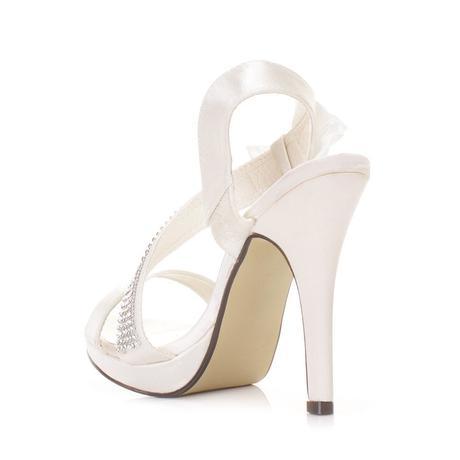 Stříbrné, zlaté společenské plesové sandálky, 36-4, 39