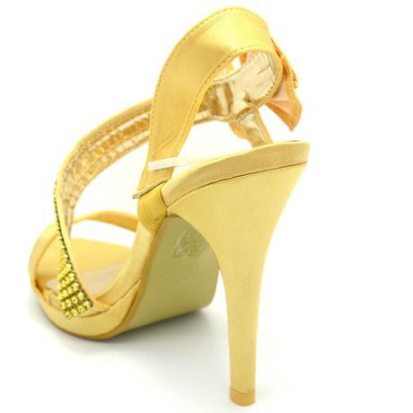 Stříbrné, zlaté společenské plesové sandálky, 36-4, 38