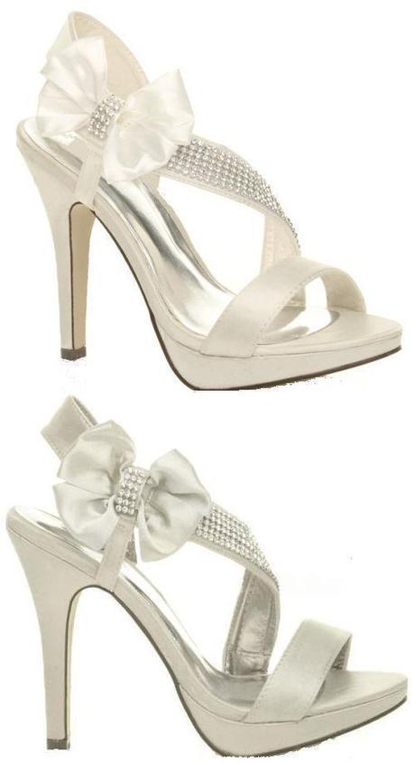 Stříbrné, zlaté společenské plesové sandálky, 36-4, 41