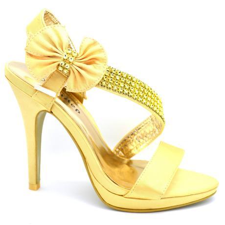 Stříbrné, zlaté společenské plesové sandálky, 36-4, 40
