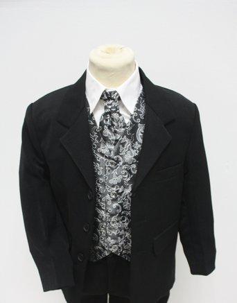 Stříbrný, šedý oblek, svatba, křtiny, půjčovné, 104