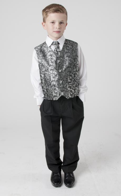 Stříbrný, šedý oblek, svatba, křtiny, půjčovné, 122