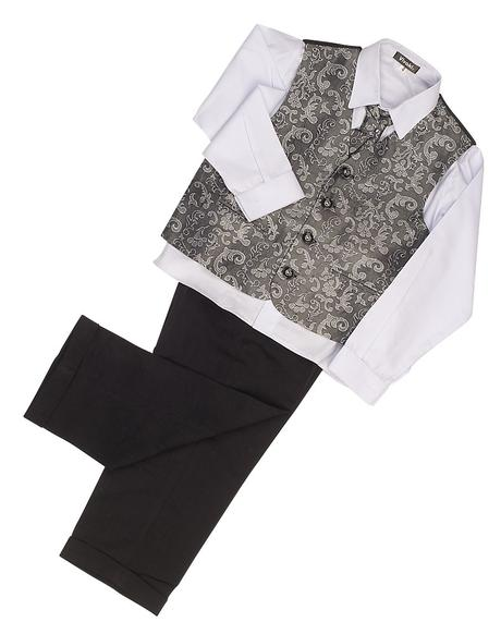 Stříbrný, šedý oblek, svatba, křtiny, půjčovné, 80