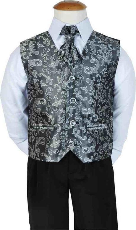 Stříbrný, šedý oblek, svatba, křtiny, půjčovné, 98