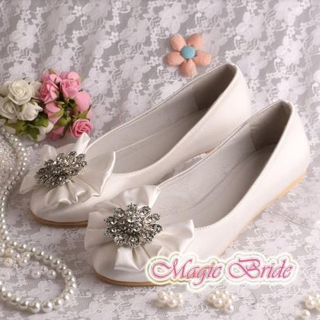 Svatební baleríny, bez podpatku, 34-42, 36
