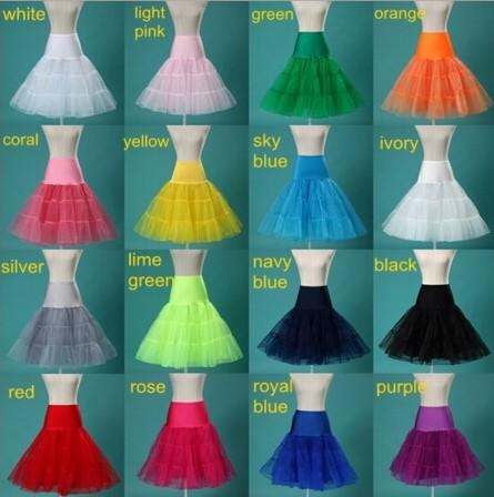 Svatební krátká spodnička, různé barvy,