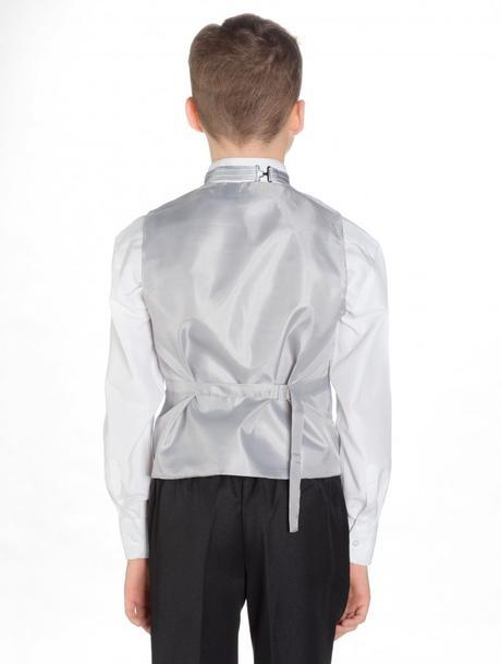 Svatební oblek, stříbrná, černá, půjčovné, všechny, 56