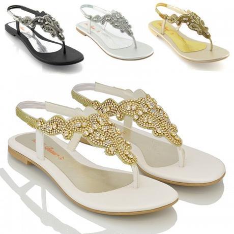 Svatební, plážové sandálky, 36-41, 37