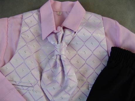 Světle fialový, lilla oblek, půjčovné, 2-4 roky, 110