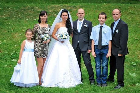 Světle modrá společenská, svatební košile, 164