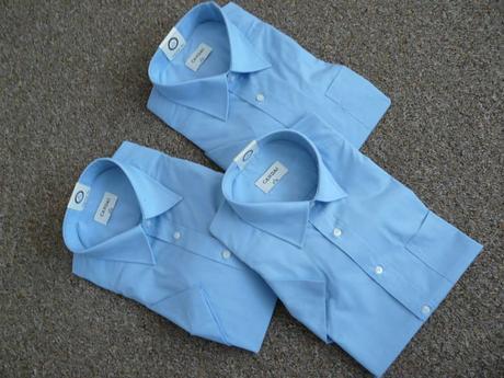 Světle modrá společenská, svatební košile, 42