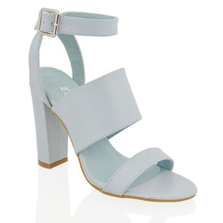 Světle modré svatební, společenské boty, 36-41, 40