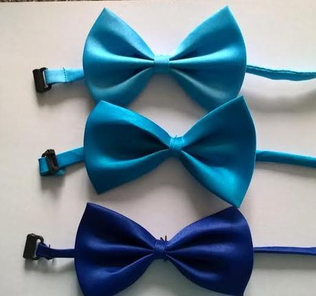 Světle modrý dětský motýlek - skladem,