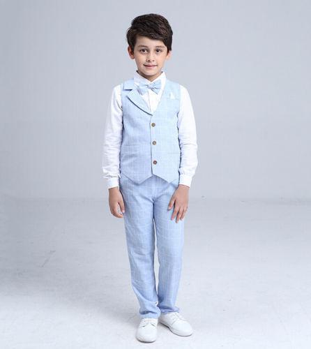 Světle modrý dětský oblek, 3-10 let, 122