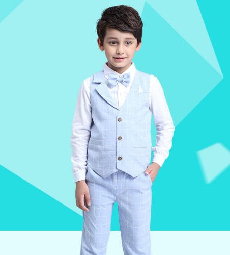 Světle modrý dětský oblek, 3-10 let, 98