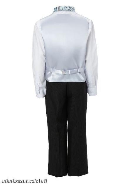 Světle modrý společenský oblek, k zapůjčení, 12-18, 80