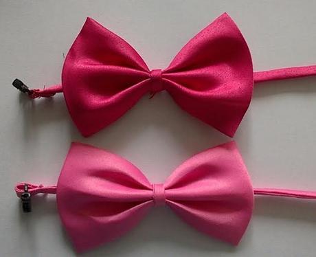 Světle růžový dětský motýlek - skladem,