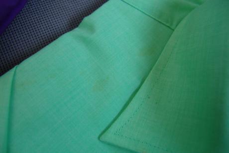 Světle zelená a fialová košile - M, M