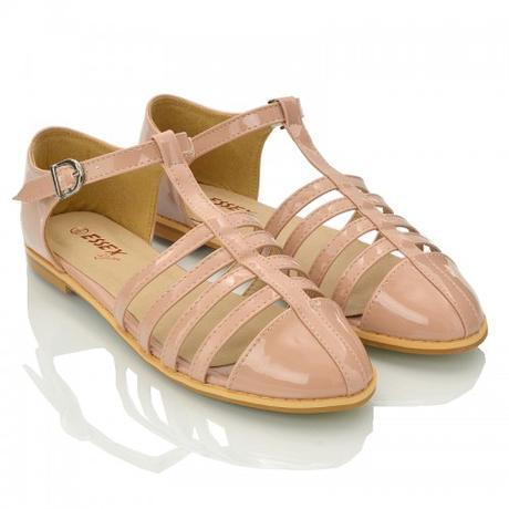 Tělové retro sandálky, lodičky, 36-41, 37