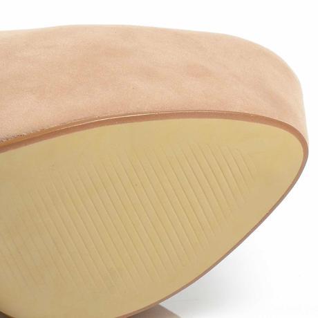 Tělové semišové lodičky extra vysoký podpatek, 40