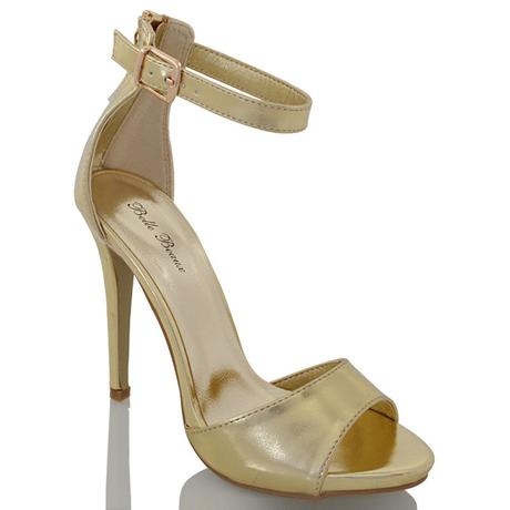Tělové svatební sandálky, vysoký podpatek, 36-41, 36
