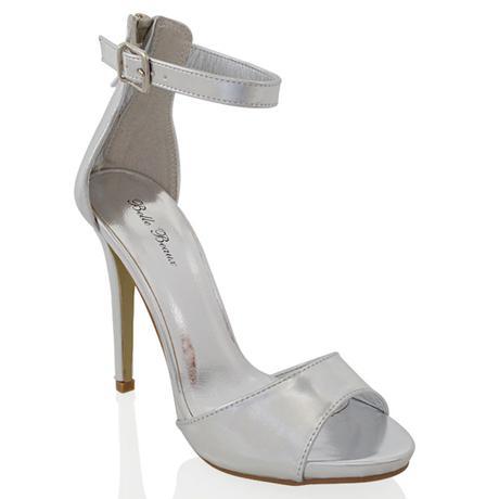 Tělové svatební sandálky, vysoký podpatek, 36-41, 37