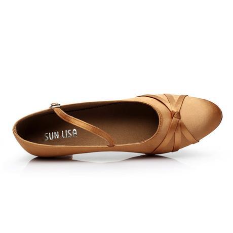 Tělové, zlaté taneční střevíčky, 34-40, 36