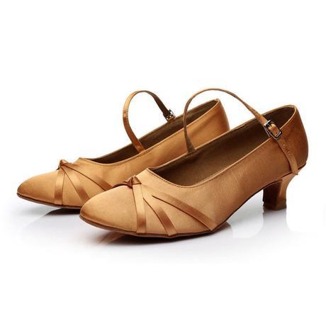 Tělové, zlaté taneční střevíčky, 34-40, 37