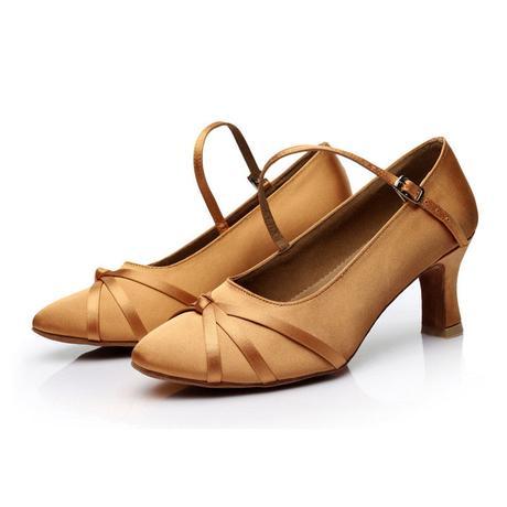 Tělové, zlaté taneční střevíčky, 34-40, 40