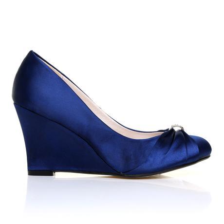 Tmavě modré boty, klínek, 36-41, 38