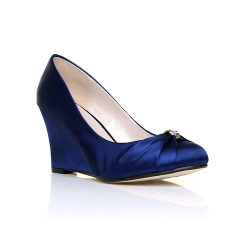 Tmavě modré boty, klínek, 36-41, 39