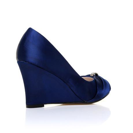 Tmavě modré boty, klínek, 36-41, 41