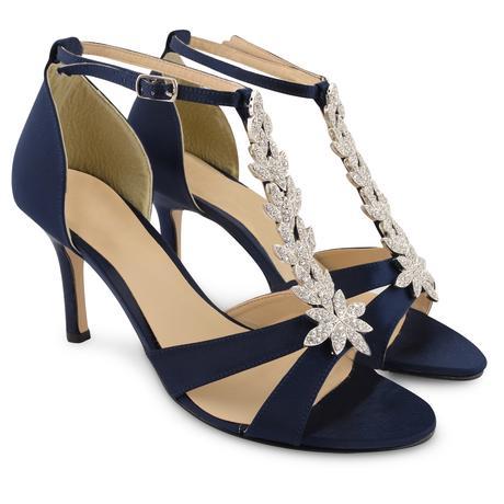 Tmavě modré společenské sandálky, 36-41, 36