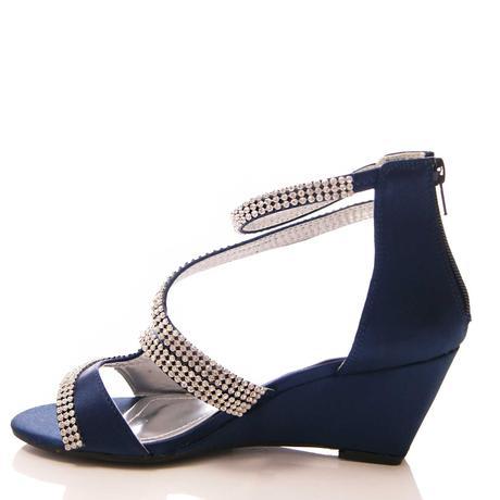 Tmavě modré společenské sandálky, 36-41, 40