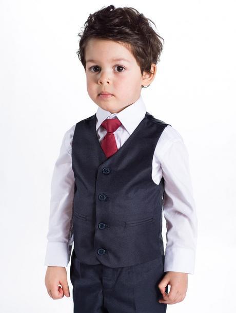 Tmavě modrý (navy) oblek 1-14 let - prodejní cena, 92