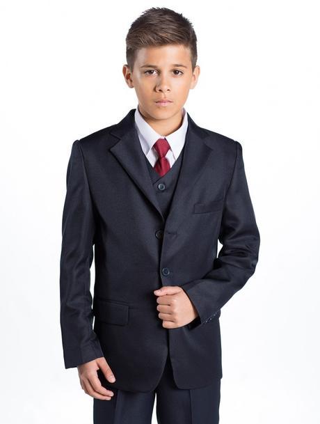 Tmavě modrý (navy) oblek 1-14 let - půjčovné, 128