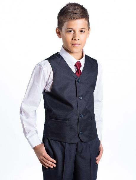 Tmavě modrý (navy) oblek 1-14 let - půjčovné, 134