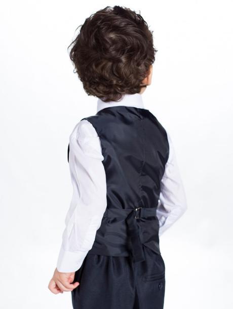 Tmavě modrý (navy) oblek 1-14 let - půjčovné, 140